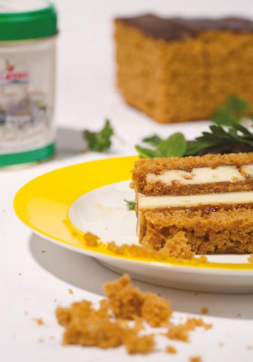 <div>Hoofdgerecht:</div> Terrine van bestroopte wijnkruidkoek en kaas