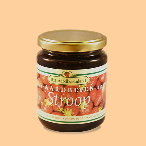 Peren-Aardbei-Appelstroop in glazen pot, 300 gr.