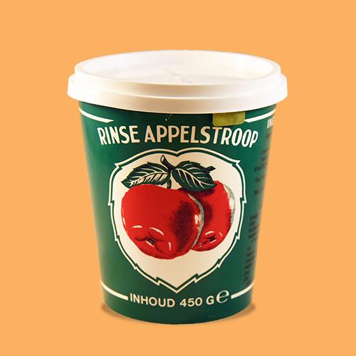 Rinse appelstroop in groene beker, 850 gr. en 450 gr.