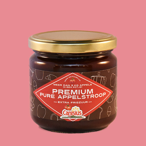 Premium pure appelstroop extra friszuur in glazen pot,<br> 450 gr.