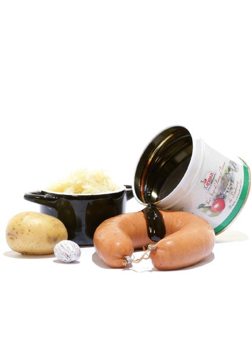 <div>Hoofdgerecht:</div> Zuurkoolstamppot met peren-appelstroop