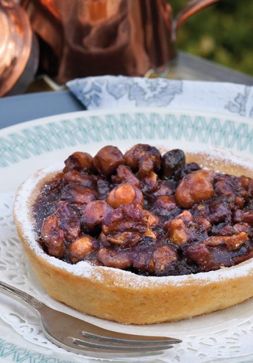 <div>Dessert:</div> Canisius taartje van noten en rinse appelstroop