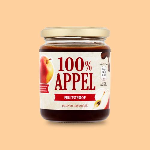 100% Appel Fruitstroop, 300 gr.